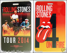 ROLLING STONES 14 ON FIRE Tour 2014 LANYARD  CARD Official Licensed Merchandise