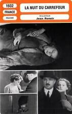FICHE CINEMA : LA NUIT DU CARREFOUR - Renoir,Térof 1932 Night at the Crossroads