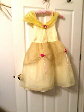 Disney Belle Beauty & the Beast Play Costume Yellow Girl one size fits most