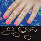 pop Stacking Punk Rings Shiny Middle Finger Ring Set New Fashion Jewelry Gift