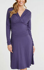 Midnight Grace By Figleaves Holly D-G Ruched Waist Dress Size 8 Purple