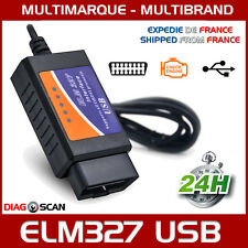 Cable de diagnostic multimarque ELM327 USB V1.5 + Logiciel en FR ELM 327 OBD