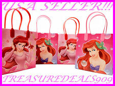 DISNEY ARIEL LITTLE MERMAID 6 PC GOODIE BAGS PARTY FAVORS CANDY  BIRTHDAY BAG