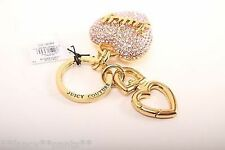 Juicy Couture Pink Crystal Pave Keychain Brand New with Tags