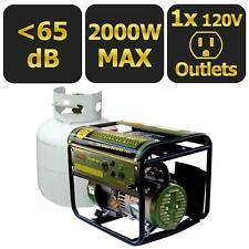2000W Propane or Gas Powered Portable Generator Cordless Outdoor Surge Outlet