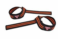 PADDED POWER WEIGHT LIFTING GYM TRAINING HAND BAR STRAPS SUPPORT WRIST WRAPS