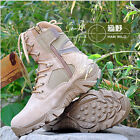 New Men's Leather Military Army Training Lace Up Ankle Combat Boot Casual Shoes