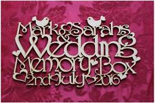 MDF Wooden Personalised Wooden Wedding Keepsake Memory Box Topper Craft wall ...