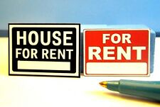 "Dollhouse Miniature ""FOR RENT"" & ""HOUSE FOR REN""T Sign Set  S625"