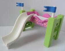 Playmobil dollshouse mobilier: loft lit avec toboggan pour enfant figure new