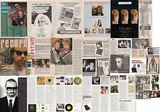 EURYTHMICS : CUTTINGS COLLECTION -adverts interviews etc-