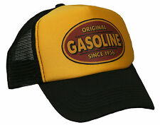 Gasoline Hellmotors Trucker Mesh Cap Gelb Hot Rod V8 US Car OldSchool Bike Mütze
