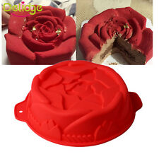 Rose Jelly Silicone Cake Mould Chocolate Pudding Mold DIY Baking Decorating Tool