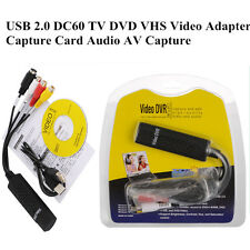 USB 2.0 Video Audio VHS to DVD Converter Capture Card Adapter Video DVR New US
