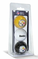 NFL Pittsburgh Steelers 3-Pack Golf Balls New