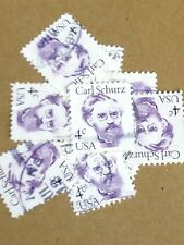 100 USED STAMPS # 1847 4C CARL SCHURZ