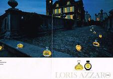 PUBLICITE ADVERTISING 094  1991  LORIS AZZARO  parfum femme N °9  ( 2p)