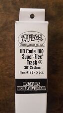 "Atlas Ho Code 100 Super-Flex Track 36"" Section, 5 pcs - Item # 178"