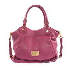 Marc Jacobs Purple Leather Classic Q Fran Shopper Shoulder Bag MSRP$420 Auth