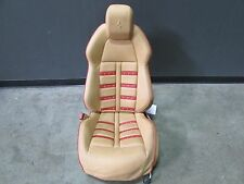 Ferrari F458 Italia, LH, Left Front Seat, Daytona, Beige/Red, Some Marks, Used