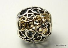 NEW! AUTHENTIC PANDORA CHARM 2-TONE DISNEY BELIEVE WITH 14K #791436  HINGED BOX