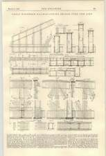 1900 Great Northern Railway Swing Bridge Over The Air Detailed Diagram 2