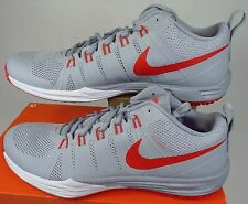 "New Mens 15 NIKE ""Lunar TR1"" Grey LT Crimson Run Shoes $110 652808-002"