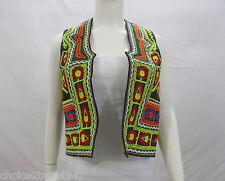 Kuchi Banjara Tribal Boho Hippy Vintage Waistcoat Ladies Embroidery Vest KWC-014