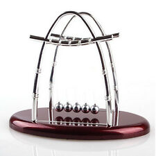 Newtons Cradle Physics Science Steel Balance Ball Pendulum Fun Desk Toy Gift lia