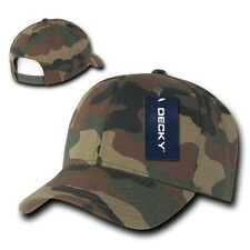 Woodland Forest Camouflage Curve Bill Snapback Camo Baseball Cap Caps Hat Hats