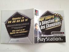 Notice/manuel/mode d'emploi Roger Lemerre Selection Playstation 1 PAL FR