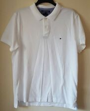 BNWT MENS TOMMY HILFIGER SLIM FIT CLASSIC WHITE POLO SHIRT/TOP SIZE XL