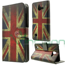 Custodia BOOK bandiera vintage inglese UK per Huawei Ascend Y550 cover STAND