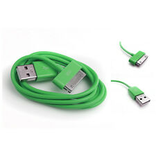10FT USB TO 30PIN GREEN CABLE DATA SYNC CHARGING SAMSUNG GALAXY TAB P7500 P7510