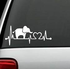 K1109 Elephant Heartbeat Monitor Decal Sticker Car Truck SUV Laptop Surface Art