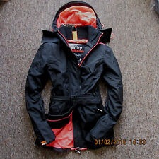 Superdry Womens Wind Mac Jacket Coat Size S Black FREE DELIVERY