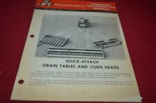 Massey Ferguson Quick Attach Heads Product Information Manual YABE10