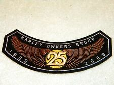 1983 to 2008 HARLEY DAVIDSON OWNERS GROUP HOG MEMBER PATCH BADGE MOTORCYCLE VEST