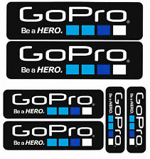 * NEU * 6 x GOPRO - BE A HERO - STICKER / AUFKLEBER - SET No. 01 ( MADE in USA )