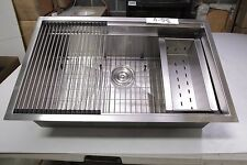 """32"""" x 20"""" Prep Station, Professional Stainless Steel Kitchen Sink, # A-58"""