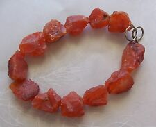 "8"" Strand Carnelian Gemstone Natural Organic Rough Nugget Beads 15mm-24mm"