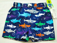 little boys Al & Ray sharks swimsuit size 24 months cool graphics brand new