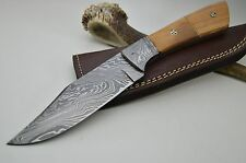 XL Damastmesser Jagdmesser Taschenmesser Damast Messer Bowie MEGA Skinner #4