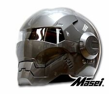 Gray Masei Atomic-Man 610 Open Face Motorcycle Helmet Honda Vespa Icon Helmet G1