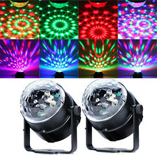 2Pcs Stage Lightings RGB LED Crystal Magic Ball Effect Light DJ XMAS Party Show