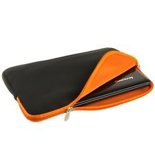 Soft Zipper Case bag custodia morbida neoprene laptop notebook 14.1 nero arancio