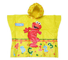 Sesame Street Muppet Elmo Alphabet ABC # 123 Hooded Kids Rain Coat Poncho NEW
