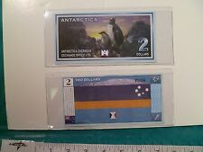 1999 ANTARCTICA TWO DOLLAR BANKNOTE CRISP UNCIRCULATED -Free Holder & Shipping!