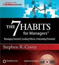 Stephen Covey 7 HABITS FOR MANAGERS Unabridged CD *NEW* FAST 1st Class Ship!