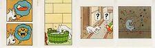 TINTIN ET MILOU LOT DE 4 SUPERBES VIGNETTES CONCOURS BUBBLE GUM AU MIEL  (15)